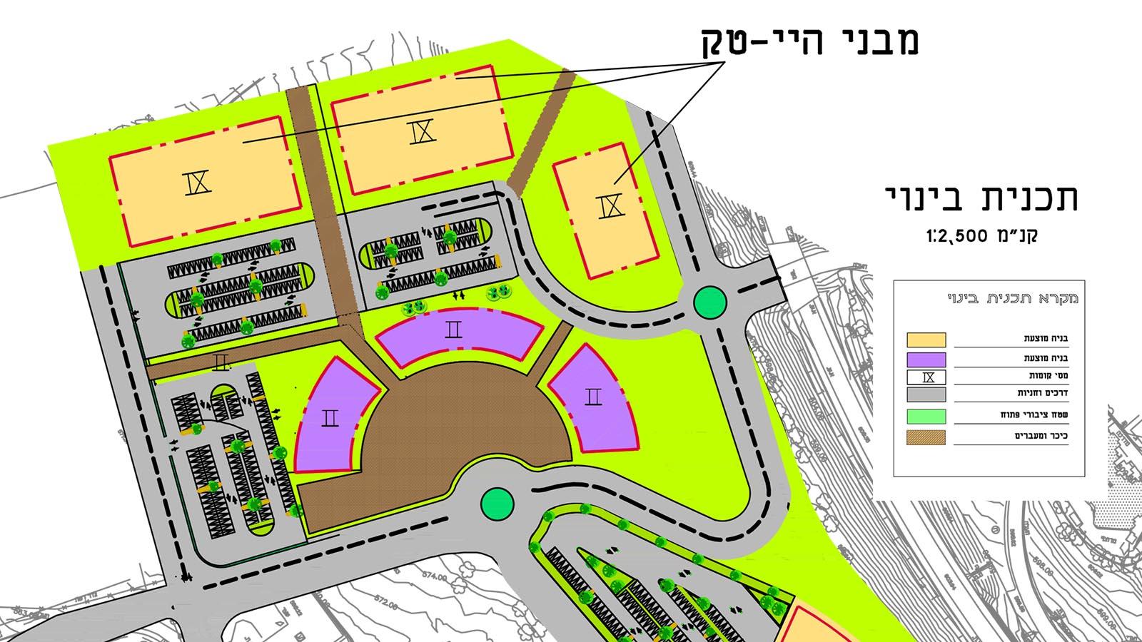 מרכז תעשייה ומסחר בצפת - חלק מתוכנית הבינוי - מבניי הייטק